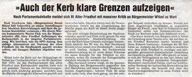 Wetterauer Zeitung vom 1. Februar 2007