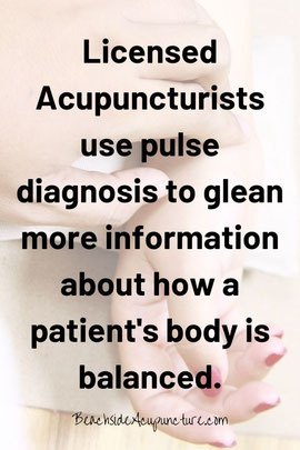 Acupuncturists use pulse diagnosis to glean more information about how a patient's body is balanced.