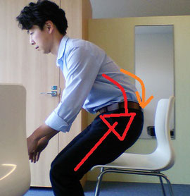 座るときに腰が痛い原因