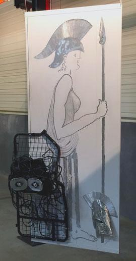 ATHENA portrait en pied (sculpture 2014) Hauteur 2 metres