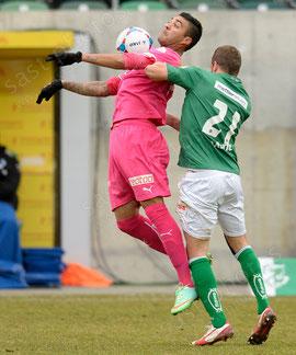 Alves dos Santos Caio (L. GCZ) gegen Ivan Martic (FCSG)