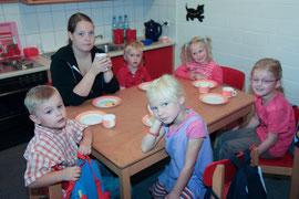Frühstück mit den Kindern