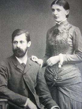Sigmund Freud et sa femme Martha Freud