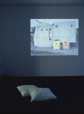 installation view of  'breath'  /  30min    2002 video