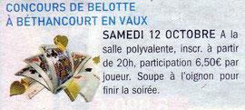Annonce / le journal INTER / édition de Chauny