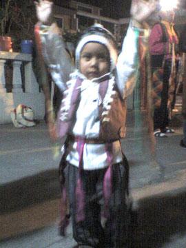 Pancho listo para bailar tinkus