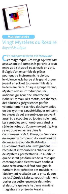 Revue Signes Musiques des mois de 11-12/2010
