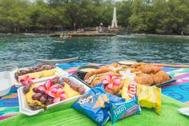 ケアラケクア湾でのランチ(サンドウィッチ、フルーツとスナック)コロナによりサービスができない場合があります。ご確認ください。
