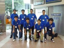 高知応援隊の隊員として高知龍馬空港から出発(2011/6/17)