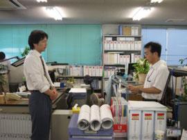 水田係長は外出中のため代理の方が受賞