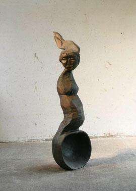 Empty Spoon II, 2006, Bronze, 6 Ex., Höhe 178 cm