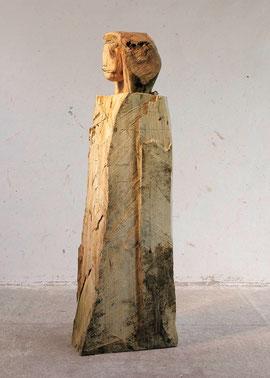 Stele A. F. - Holzmodell, 2005, Höhe 190 cm