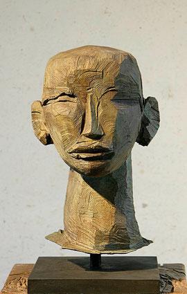 Kopf Roes III, 2009, Bronze, 6 Exemplare, H. 67 cm