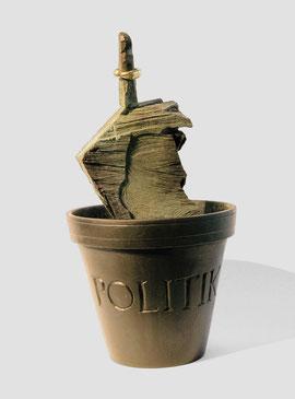 Politik, 2007, Bronze, Gold, 3 Ex., Höhe 40,5 cm