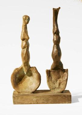 Figur 147-148, 2006, Bronze, 9 Exemplare, 21,8 x 14 x 8,2 cm