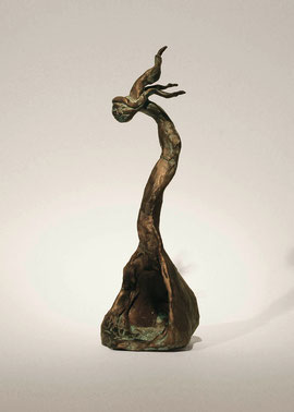 Figur 122 (Model Empty Spoon I), 2005, Bronze, 9 Ex Höhe 23,5 cm