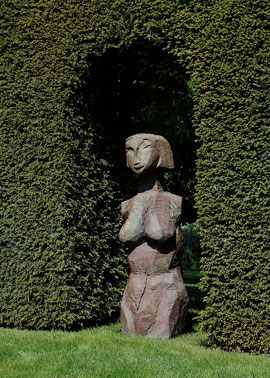 Ohne Titel (Volupt. & Virtut.), 2002, Bronze, 162 x 49 x 45 cm