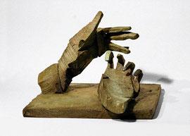 Hand 102/103, 2009, Bronze, 2 Exemplare, 23,8 x 32,3 x 36,8 cm