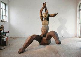 Entwurf für eine große Figur V, 2004, Bronze, 1/6 Ex. 238 x 211 x 165 cm