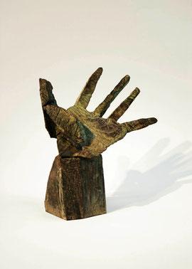 Hand 20, 2005, Bronze, 9 Exemplare, Höhe 22,5 cm