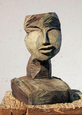 Kopf 157, 2001, Bronze, 3/9 Exemplare, Höhe 52 cm