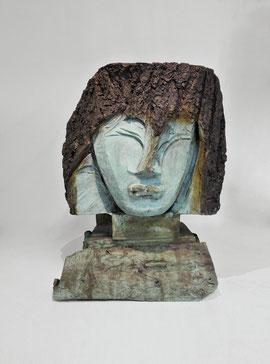 Kopf 243, 2016, Bronze, 6 Ex., 51 x 40 x 33 cm