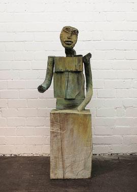 Die Maske, 1999, Bronze, 3/6 Exemplare, H. 163 cm