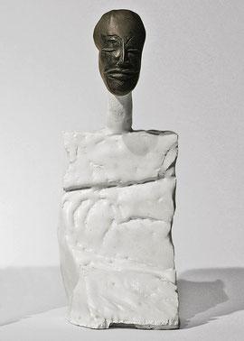 Figur 168, 2008, Bronze, Keramik, Unikat, H. 27,2 cm