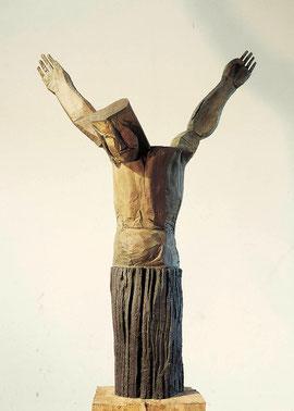 Kruzifix II, 2003, Bronze, 6 Exemplare, Höhe 180 cm