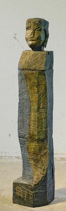 Stele Teles, 1998, Bronze, 164 x 32 x 40 cm