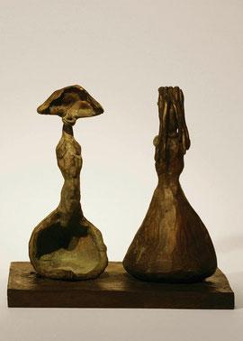 Figur 125-127, 2006, Bronze, 9 Exemplare, 20 x 20,5 x 16 cm