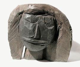 Kopf 187, 2004, Bronze, 9 Exemplare, Höhe 38 cm