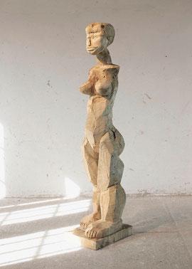 Enopie VII - Holzmodell, 2004, Höhe 195 cm