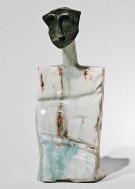 Figur 172, 2008, Bronze, Keramik, Unikat, 25,6 cm