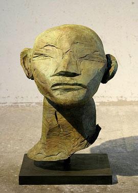 Kopf Wonne Bi, 2006/2009, Bronze, 6 Exemplare, Höhe 84,5 cm