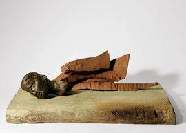 Figur 174, 2008, Bronze, Eisen, 6 Exemplare, 12,7 x 36 x 25 cm