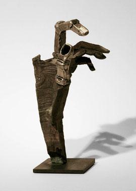 Hand 94, 2008, Bronze, Silber, Schöre, Bein, Höhe 28,9 cm, Unikat