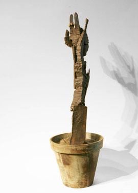 Erkenntnis, 2007, Bronze, Gold, Rubin, 3 Exemplare, Höhe 69 cm