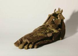 Fuß 1, 2005, Bronze, 9 Exemplare, 15 x 31 x 10 cm