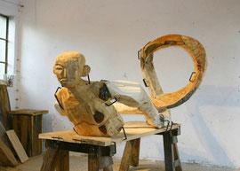 Gordian I - Holzmodell, 2006, 127 x 110 x 225 cm