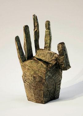 Hand 23, 2005, Bronze, 9 Exemplare, Höhe 21,5 cm