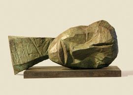 Kopf 202, 2007, Bronze, 2 Ex., 21,5 x 44,8 x 27,6 cm