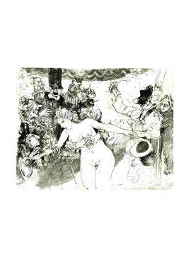 """""""La mascherina smascherata"""", incisione originale di Giancarlo Vitali (misura lastra 180x230 mm)"""