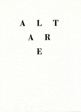 copertina di Altare
