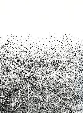 xilografia originale di Marina Bindella a doppia pagina (particolare)