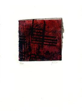 monotipo originale di Paolo Cabrini (misura 100x100 mm circa)