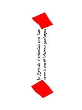 pagina tipografica con collage