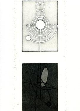incisione originale dell'autore contenuta in Cieloterra (misura lastra 270x125 mm)