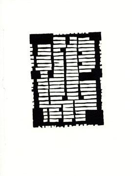 incisione a quattro pagine di Lucio Passerini - seconda sezione (circa 140x105 mm)