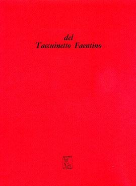 copertina di Del Taccuinetto Faentino